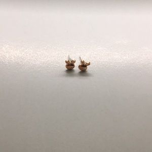 Dainty Bunny Rose Gold Plated Stud Earrings